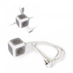 Regleta con cargador usb fonestar cubik-42ug - 4 tomas enchufe + 2 puertos usb - indicador luminoso de encendido