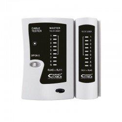 Tester nanocable 10.31.0301 para cable rj11/rj12/rj45 - incluye funda de protección
