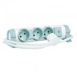 Regleta confort legrand 694622 - 3x2p+t - tomas de corriente orientables - cable de 3 metros - blanco