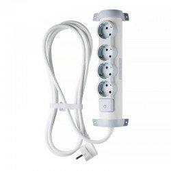 Regleta confort legrand 694627 - 4x2p+t - tomas de corriente orientables - cable de 3 metros - blanco