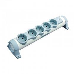 Regleta confort legrand 694631 - 5x2p+t - tomas de corriente orientables - cable de 1.5 metros - blanco