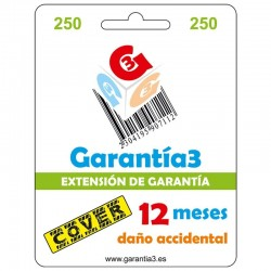Tarjeta seguro cover 12 meses para productos hasta 250¤ pvp de informatica
