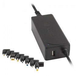 Cargador universal de portátil ngs w-45w - automático - voltaje 19-20v - amperaje 2.1-2.31a - salida usb