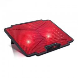 Soporte refrigerante spirit of gamer airblade 100 red - para portátiles hasta 15.6'/39.6cm - ventiladores 2x12cm - iluminación