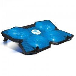 Soporte refrigerante spirit of gamer airblade 500 blue - para portátiles hasta 17.3'/43.9cm - ventiladores 4x12cm - iluminación