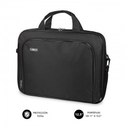 Maletín subblim oxford black - para portátiles hasta 11'-12.5'/ 27.9-31.7 cm - interior acolchado - bolsillo exterior - correa