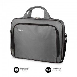 Maletín subblim oxford grey - para portátiles hasta 11'-12.5'/ 27.9-31.7 cm - interior acolchado - bolsillo exterior - correa