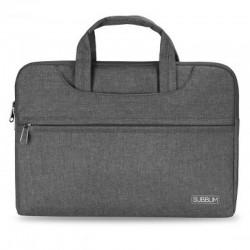 Maletín subblim business grey - para portátiles hasta 13.3'-14'/ 33.7-35.5cm - interior acolchado - bolsillo exterior - correa