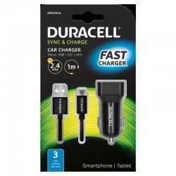 Cargador de coche duracell dr5032a - 5v / 2.4a - cable micro usb
