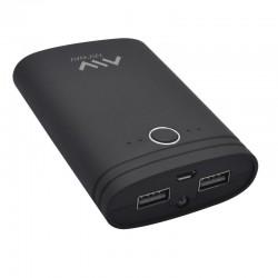 Batería externa universal myway mwchp0093 negra - 7500 mah - incluye cable de carga micro-usb