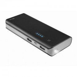 Batería externa trust urban primo powerbank 10000 black - 10000mah - 5w/1a - 2x usb (5w/1a-10w/2.1a) - 2 cables micro-usb -
