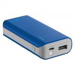 Batería externa trust urban primo powerbank 4400 azul - 4400mah - 5w/1a - led carga - cable microusb - función linterna -