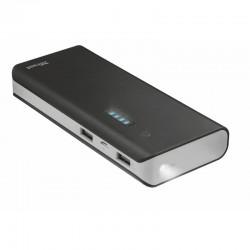 Batería externa trust primo 13000 black - 13000mah - usb 5w/1a + usb 10w/2.1a - 2 cables microusb - función linterna - universal