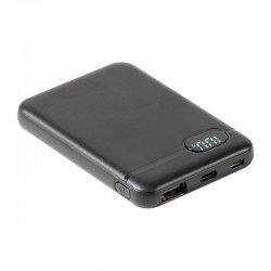 Batería externa vivanco 60082 - 5000 mah - pantalla lcd - cable conectores usb-a / microusb / usb tipo-c