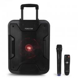 Altavoz portátil fonestar california - 200w - bt - usb/mp3 - fm - función karaoke - micrófono inalámbrico - mando a distancia