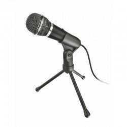 Micrófono trust starzz all round - botón silenciador - trípode - jack 3.5mm - cable 250cm