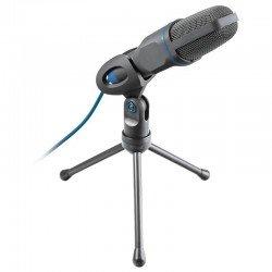 Micrófono trust 23790 mico usb - jack 3.5mm - adaptador usb - trípode ángulo ajustable - cable usb 1.8m
