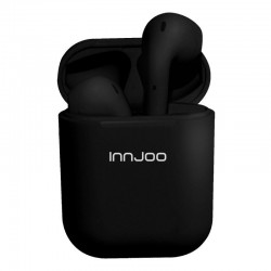 Auriculares bluetooth innjoo go black - bt 5.0 tws - batería auricular 30mah - estuche de carga 400mah