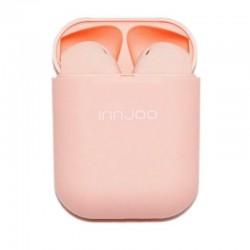 Auriculares bluetooth innjoo go v4 pink - bt 5.1 tws - batería auricular 30mah - estuche de carga 400mah - conector micro usb