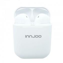 Auriculares bluetooth innjoo go v2 white - bt 5.1 tws - batería auricular 30mah - estuche de carga 400mah - conector micro usb