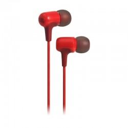 Auriculares intrauditivos jbl e15 red - drivers 8.6mm - 16ohm - cable 122cm - control remoto/micrófono en 1 botón - func.manos