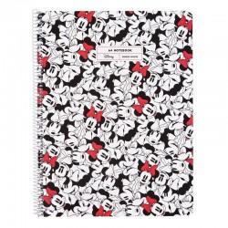 Cuaderno erik ctppma40005 minnie mouse rocks the dots - 80 páginas a4 - 90g - pautado - microperforado - tapa polipropileno