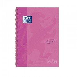 Libreta oxford europeanbook 1 lavanda pastel a4+ - tapa extradura - 80 hojas  - rayado cuadricula 5*5 - 90gr