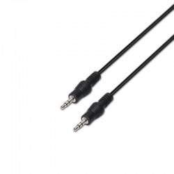 Cable estéreo aisens a128-0144 - jack 3.5/m-jack 3.5/m - negro - 10m