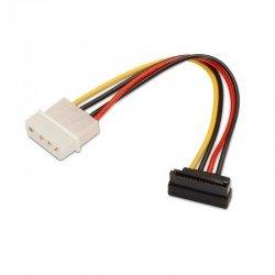 Cable de alimentación sata acodado aisens a131-0160 - molex 4pin/m-sata hembra - 16cm - 100% cobre