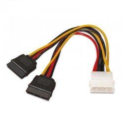 Cable duplicador de alimentación aisens a131-0161 - conectores molex 4pin macho / 2*sata hembra - 20cm