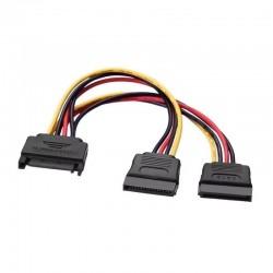 Cable alimentación aisens a131-0353 - conectores sata macho/2*sata hembra - 20cm - negro