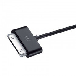 Cable duracell usb negro - apple 30 pin - carga /datos iphone 4 / 4s / 3 / 3gs / ipod touch series / ipod nano - 1m