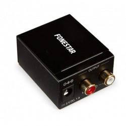 Convertidor de audio fonestar fo-37da - convierte audio digital en analógico - entrada óptica spdif / coaxial spdif - salida