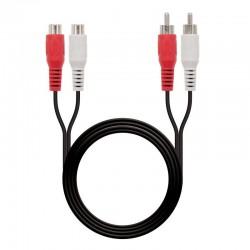 Cable estéreo nanocable 10.24.0710 - conectores 2*rca macho/2*rca hembra - 10m