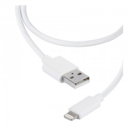 Cable usb lightning vivanco 36299 blanco - conectores usb a-macho a lightning - carga y datos - 1.2m