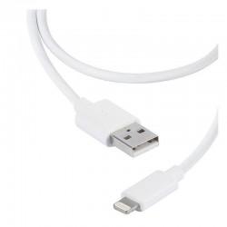 Cable usb lightning vivanco 36300 blanco - conectores usb a-macho a lightning - carga y datos - 2m