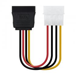 Adaptador de alimentación nanocable 10.19.0205 - conector molex macho 5 1/4 a sata 15 pin - 16cm
