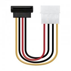 Cable de alimentación sata acodado nanocable 10.19.0201-oem - molex 4pin/m-sata/h - 16cm - oem