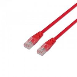 Latiguillo de red aisens a133-0206 - rj45 - cruzado crossover - utp - cat5e - 1m - rojo