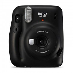 Cámara instantánea fujifilm instax mini 11 charcoal gray - objetivo 2 componentes - flash - foto tamaño 62*46mm - apagado