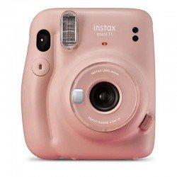 Cámara instantánea fujifilm instax mini 11 blush pink - objetivo 2 componentes - flash - foto tamaño 62*46mm - apagado