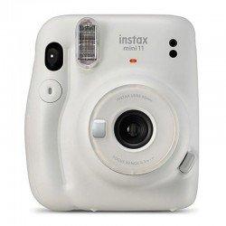 Cámara instantánea fujifilm instax mini 11 ice white - objetivo 2 componentes - flash - foto tamaño 62*46mm - apagado