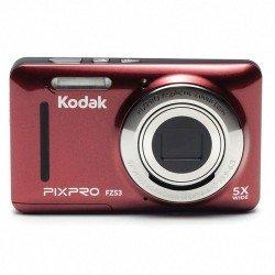 Cámara digital kodak pixpro fz53 roja - 16mpx - lcd 2.7'/6.82cm - zoom 5x opt - angular 28mm - vídeo hd 720p - usb 2.0 -