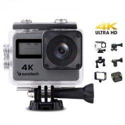 Cámara deportiva sunstech adrenaline4k - full hd-4k/30fps - lente gran angular - 16mpx - pantalla lcd 5cm/tft 1.77cm -