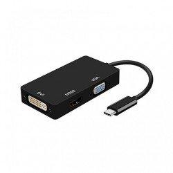 ADAPTADOR USB-C A DVI/HDMI/VGA AISENS NEGRO