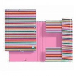 Carpeta solapas miquel rius 14680 malabar mr - a4 - carton forrado de papel impreso y plastificado mate