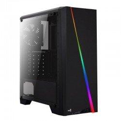Caja semitorre atx/mini-itx aerocool cylon - led rgb - int 2*3.5/2*2.5 - 1*usb 3.0/2*usb 2.0 + hd audio/mic + lector microsd/sd