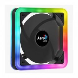 Ventilador aerocool edge 14 - 12cm (requiere espacio montaje de 14cm) - doble anillo led rgb - almohadillas antivibracion -