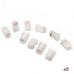 Bolsa 50 conectores rj45 aisens a138-0291 - 8 hilos - cat.5e - awg24