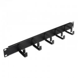 Organizador de cables metálico aisens a141-0309 - 5 anillos - 19'/48.26cm - 1u - negro